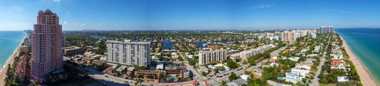 180 degree panoramic view from 17th foor of Auberge Residences, Fort Lauderdale
