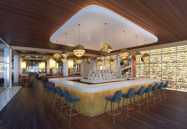 Restaurant interior Concept image for Auberge Residences, Fort Lauderdale